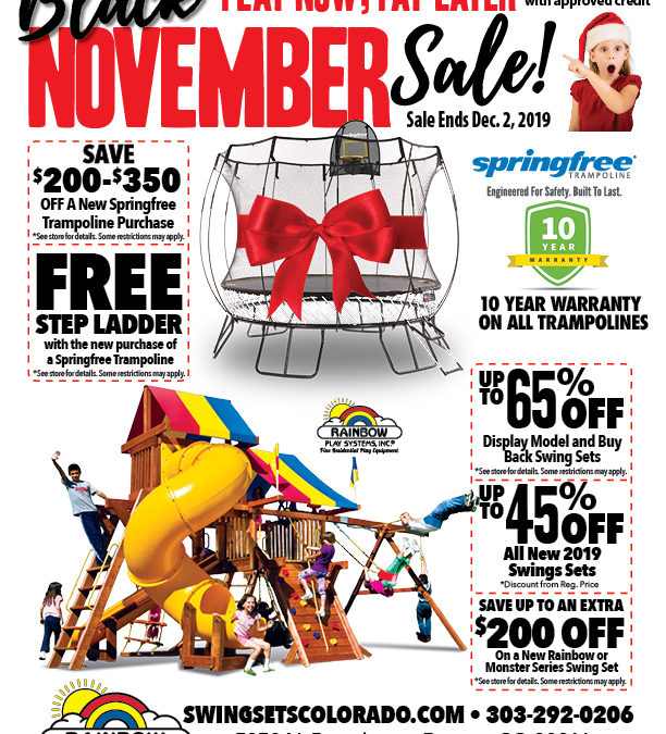 Black Friday Savings at Rainbow Play Systems of Colorado!